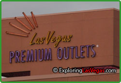 Las vegas premium outlets are an oasis of upscale shopping in downtown