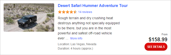 Desert Safari Hummer Adventure Tour