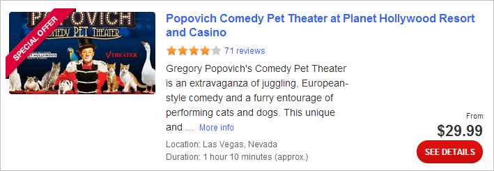 Comedy Pet Theater at Planet Hollywood Resort and Casino