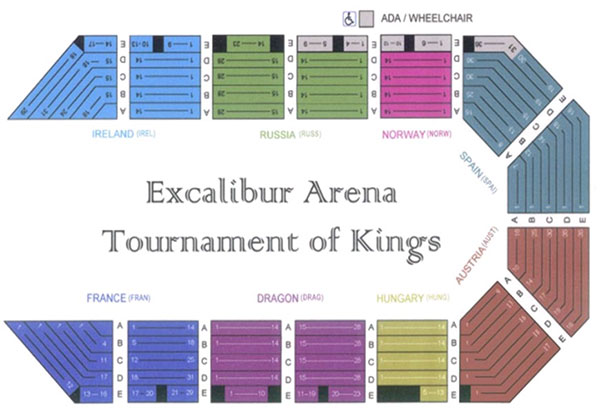 Medieval Times Seating Chart Pictures To Pin On Pinterest
